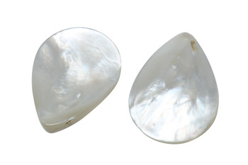 Mother of Pearl Polished 25x35mm Drop - Top Drilled