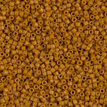 Delicas Size 11 Miyuki Seed Beads -- 653 Dyed Opaque Pumpkin