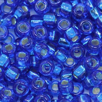 Size 6 Miyuki Seed Beads --32 Capri Blue / Silver Lined