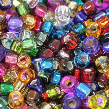 Size 6 Miyuki Seed Beads --Silver Lined Mix