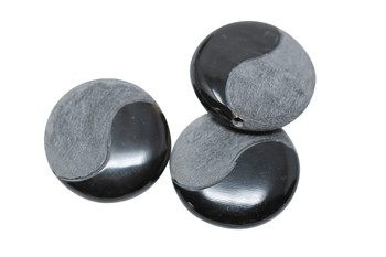 Buffalo Horn Half Matte 25mm Coin