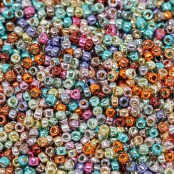 Size 15 Toho Seed Beads -- Galvanized Funfetti