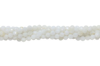 White Shell Polished 3mm Faceted Round