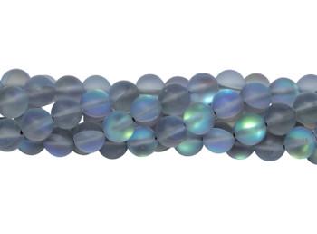 Blue Crystal AB Matte 6mm Round