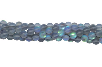 Blue Crystal AB Matte 6mm Round