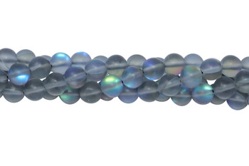 Blue Crystal AB Matte 8mm Round