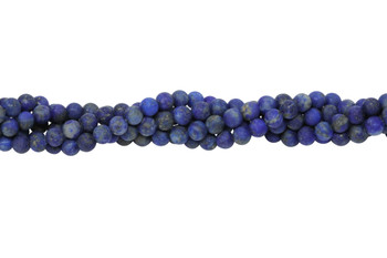 Lapis Natural Matte 4mm Round