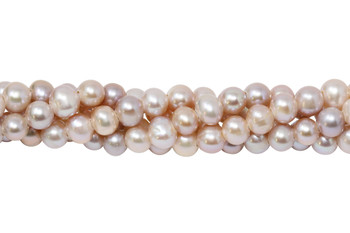 Freshwater Peach Pearls 7mm Semi Round - Large Hole