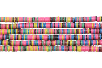 African Vinyl 3mm Multi Color Disc - Pink Mix