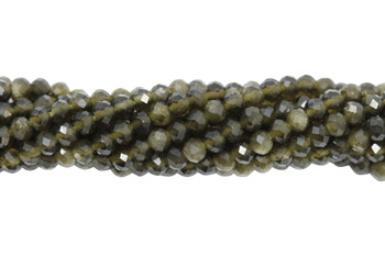 Cat's Eye / Chrysoberyl Polished 2.5mm Faceted Rondel