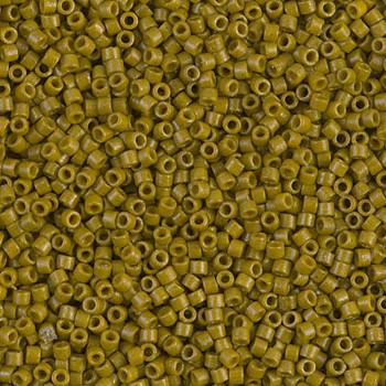 Delicas Size 11 Miyuki Seed Beads -- 2141 Duracoat Opaque Spanish Olive