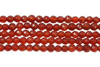 Carnelian Polished 4mm Faceted Round