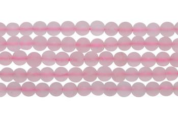 Rose Quartz Matte 4mm Round