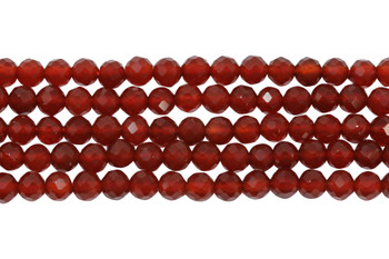 Carnelian AA Grade Polished 4mm Faceted Round