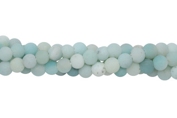 Amazonite Matte 6mm Round - 2mm Large Hole