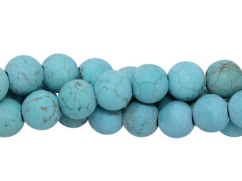 Blue Howlite Matte 8mm Round - 2mm Large Hole