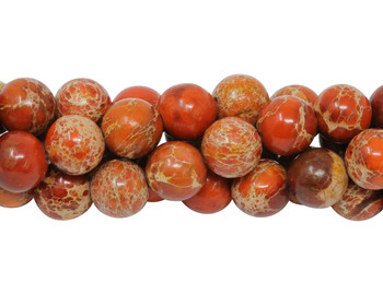 Impression Jasper Dyed Orange Polished 8mm Round