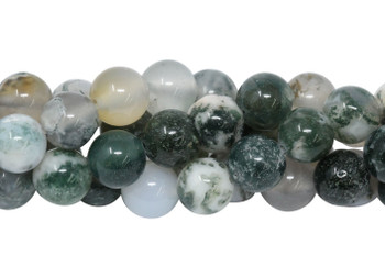 Tree Agate Polished 8mm Round
