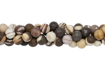 Brown Zebra Jasper Matte 8mm Round