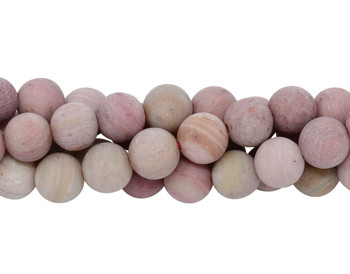 Rhodonite Matte 6mm Round