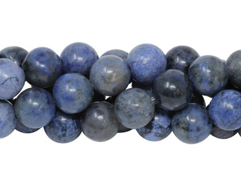 Dumortierite A Grade Polished 8mm Round - Light Blue