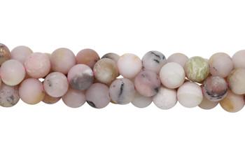 Natural Pink Opal Matte 8mm Round