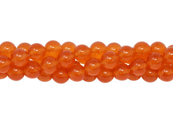 Mashan Jade Transparent Orange Dyed Polished 8mm Round