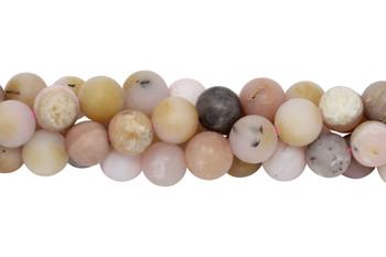 Natural Pink Opal Matte 10mm Round