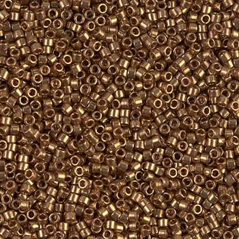 Delicas Size 11 Miyuki Seed Beads -- 022L Metallic Light Bronze