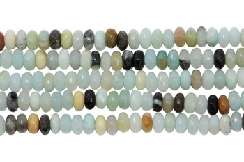 Amazonite Multi Color Polished 2.5x4mm Faceted Rondel