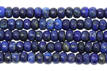 Lapis Dyed Polished 5x8mm Faceted Rondel