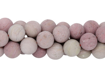 Rhodonite Matte 12mm Round