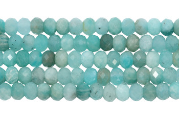 Brazilian Amazonite Polished 3x5mm Faceted Rondel