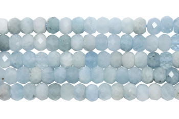 Aquamarine Polished 3x5mm Faceted Rondel