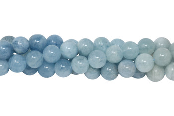 Aquamarine Polished 10mm Round - Light and Dark