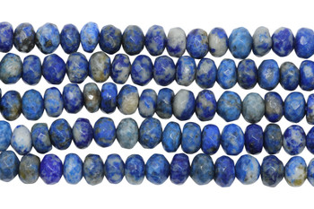 Dyed Lapis Polished 5x8mm Faceted Rondel