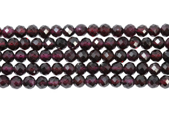 Purple Garnet Polished 4mm Faceted Round