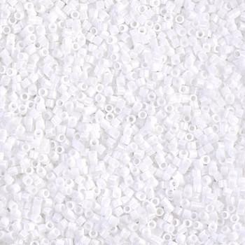 Delicas Size 15 Miyuki Seed Beads -- 200 Opaque Chalk White