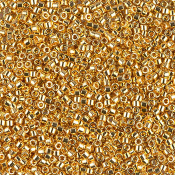 Delicas Size 11 Miyuki Seed Beads -- 031 24K Gold Plated