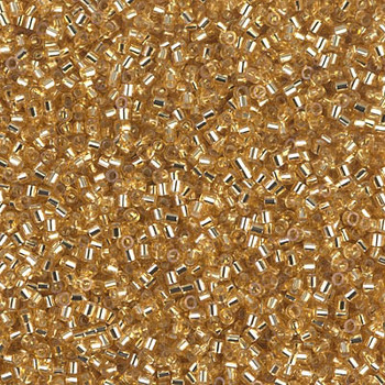 Delicas Size 15 Miyuki Seed Beads -- 042 Gold / Silver Lined