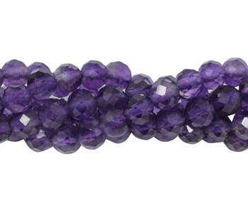 Dark Amethyst Polished 4mm Faceted Round