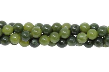 Dark Nephrite Jade Polished 6mm Round