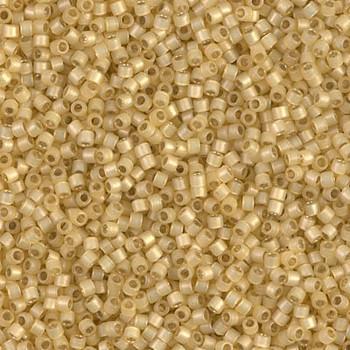 Delicas Size 11 Miyuki Seed Beads -- 2186 Duracoat Vinhoverde Semi Matte / Silver Lined