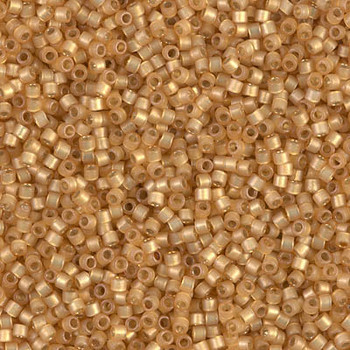 Delicas Size 11 Miyuki Seed Beads -- 2171 Duracoat Straw Semi Matte / Silver Lined