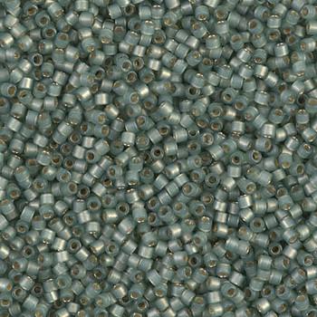 Delicas Size 11 Miyuki Seed Beads -- 2190 Duracoat Laurel Semi Matte / Silver Lined