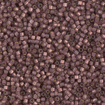 Delicas Size 11 Miyuki Seed Beads -- 2183 Duracoat Raisin Semi Matte / Silver Lined