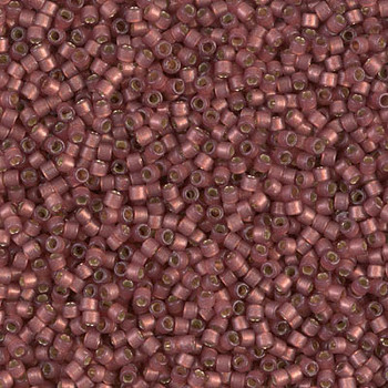Delicas Size 11 Miyuki Seed Beads -- 2179 Duracoat Magenta Semi Matte / Silver Lined