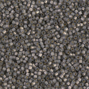 Delicas Size 11 Miyuki Seed Beads -- 2185 Duracoat Acacia Semi Matte / Silver Lined