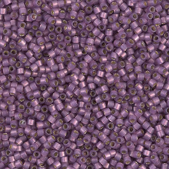 Delicas Size 11 Miyuki Seed Beads -- 2182 Duracoat Lilac Semi Matte / Silver Lined