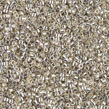 Delicas Size 11 Miyuki Seed Beads -- 035 Galvanized Silver